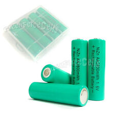 4 pcs 2800mWh 1.6V AA 2A NiZn Rechargeable Battery + 1 pc AA/AAA Holder Case