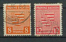 Alliierte Besetzung Briefmarken 1945 Provinz Sachen Mi 77x und 79x o