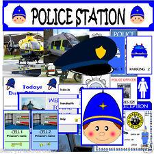 POLICE STATION ROLE PLAY DISPLAY Teaching resources childminder KS1 EYFS SEN cd