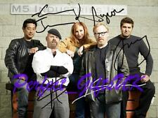 MYTHBUSTERS CAST SIGNED AUTOGRAPHED 10X8 INCH REPRO PHOTO PRINT