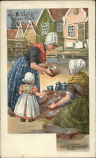 Bensdorp's Royal Dutch Cocoa Dutch Women & Pottery Private Mailing Card