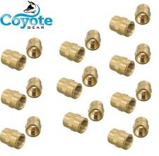 """25 Pack Lot 1/8"""" NPT Thread Female Hex Union Brass Coupling Fitting Coyote Gear"""