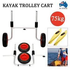 Kayak Trolley Canoe Aluminium Collapsible Wheel Cart Boat Carrier Foldable