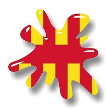Retro Vieja Escuela Splat & Northumberland County Bandera Vinilo Coche Pegatina Calcomanía