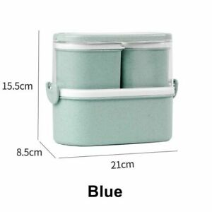 Lunch Box Food Container Bento Box With Spoon Fork Insulated Leakproof Portable