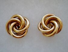 HEAVY Designer Solid 14K Yellow Gold Clip On Lover's Knot Earrings 14KT 14.3 g