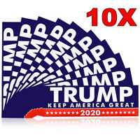 10pcs Trump President 2020 Keep America Great Again Car Bumper Stickers Decal