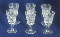 Beautiful Set of 6 High Quality Small Crystal Sherry Glasses