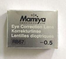 Mamiya RB/RZ -0,5 correction lens Prism Finder corrección lente prismensucher