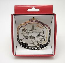 Texas State Ornament Landmarks Brass Christmas Travel Souvenir
