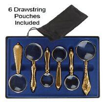 6 Piece Set Magnifying Glasses Magnifier Handheld Desk 4X  - 10X Power