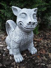 Steinfigur Katzen - Gargoyle  Steinguss Frostfest Wetterfest Drachen Garten Deko
