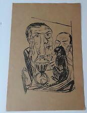 "Antique Max Beckmann Woodcut/Screen Print  "" The Great Cat"""