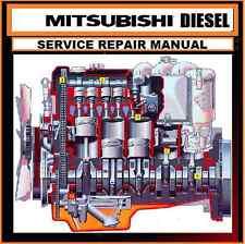 MITSUBISHI DIESEL ENGINE MANUAL CDROM 4D55 4D56 4D56T 4M40 4M41 F8QT F9Q