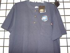 Dickies Short Sleeve Heavyweight Henley Pocket Tee.  Dickies WS451 Navy