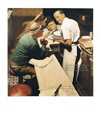 """Norman Rockwell diner print: """"EVENING NEWS WAR UPDATE"""" Normandy D-Day Invasion"""