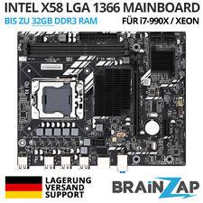 Intel X58 Sockel LGA 1366 Mainboard - PCI-Express 3.0 x16 - ECC RDIMM / Xeon, i7