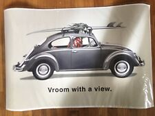 Rick Rietveld Vroom With a View Vw Volkswagen Bug Surf Poster Excellent