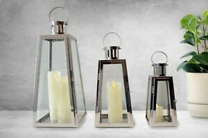 Candle Lantern For Home, Garden, Wedding, Contemporary Stainless Steel Lantern