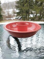 """FIESTA flamingo pink 12.5"""" CHIP N DIP bowl SET 129 oz.NEW"""