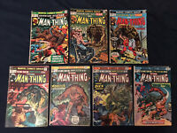 ADVENTURES INTO FEAR & MAN-THING Lot of 7 comics: #4,7,10,13,16,17,20, Low Grade