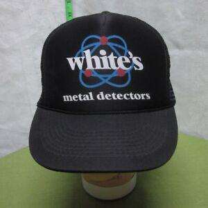 WHITE'S METAL DETECTORS trucker cap Garrett Electronics vtg hat Texas snapback