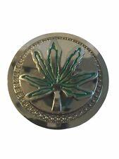 Bob Marley Pot Leaf Spinning Metal Enamel BELT BUCKLE