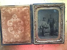 VINTAGE FIREFIGHTING IN UNIFORM: Spectacular Occupational: Two Firemen Tintype