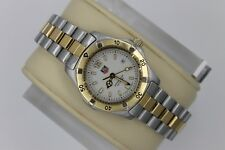Tag Heuer 2000 WK1320 GOLD Classic Professional SS Watch Womens White 2 Tone
