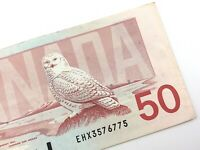 1988 Canada 50 Dollar Circulated EHX Replacement Banknote Thiessen Crow R861