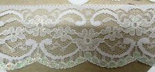 4mtrs of 5.5cm Flat White Lace/Iridescent Detail  design1-produced in Nottingham