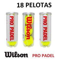 18X PELOTAS DE PADEL WILSON PRO PADEL PROFESIONAL COMPETICION 6 BOTES PELOTA