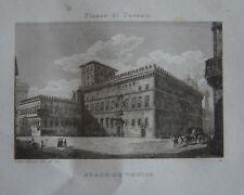 Gravure Place de VENISE à ROME   Piazza di Venezia Roma c1840