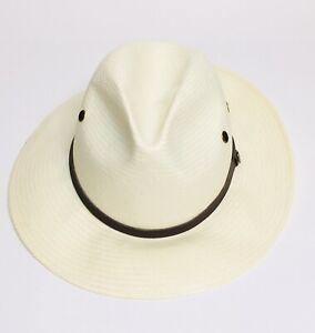 Coolibar Mens Golf Hat Size L/XL Fedora Fairway RN106928 Nature Fiber SKU 02523