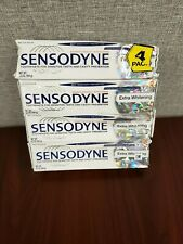 Sensodyne Toothpaste Max Strength Extra Whitening 4 pack 6.5oz each Damaged Box