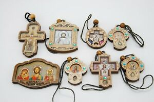 Cross Rear View Mirror Religious Crucifix  Nicholas  Amulet Крест Авто Подвеска
