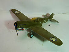 "PRO BUILT CURTISS P-40 FLYING TIGER WARHAWK MODEL, WOOD FRAME, 27"" WINGSPAN"