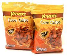 VITNER'S 2 Pack SIZZLIN HOT CORN CHIPS  A Chicago Original 2 4.5 Oz bags