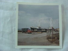 Vintage Photo 1949 REO Truck & Ship Open Sky View 778
