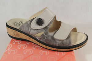 Turm Ladies Mules Slippers Sandals Leather Gray/Taupe New