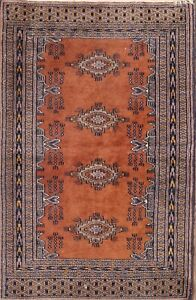 Vintage Traditional Geometric Oriental Area Rug Wool Hand-Knotted Carpet 2x3 ft