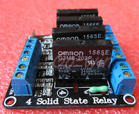 5pcs 5v 4 Channel OMRON SSR G3MB-202P Solid State Relay Module For Arduino