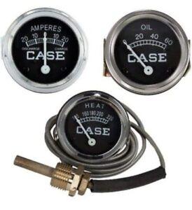 Amp Temp Oil Gauge Set for Case Tractor D DC LA S SC VAC 400 500 600