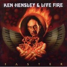 """KEN HENSLEY & LIVE FIRE """"FASTER"""" CD NEU"""
