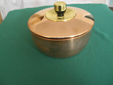 SOLID COPPER WITH BRASS TRIM.  COVERED BOWL 549013