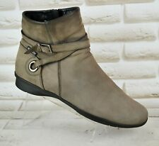 MEPHISTO Womens Beige Leather Ankle Casual Comfort Boot Size 6.5 UK 39.5 EU