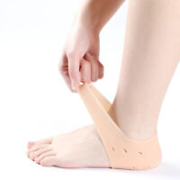 FP- US_ Invisible Height Increase Silicone Heel Socks Anti Crack Foot Protector