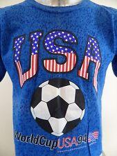 USA Soccer 1994 World Cup Red White Blue Large Vintage T Shirt Cobi Jones