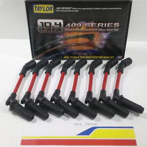 Taylor 79206 Spark Plug Wire Set 409 Spiro-Pro Custom Red