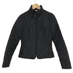 Marks & Spencer Size 8 Black Quilted Lined Zip Up Short  Jacket